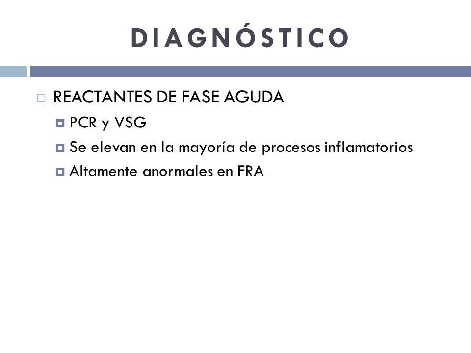 DIAGNÓSTICO REACTANTES DE FASE AGUDA PCR y VSG