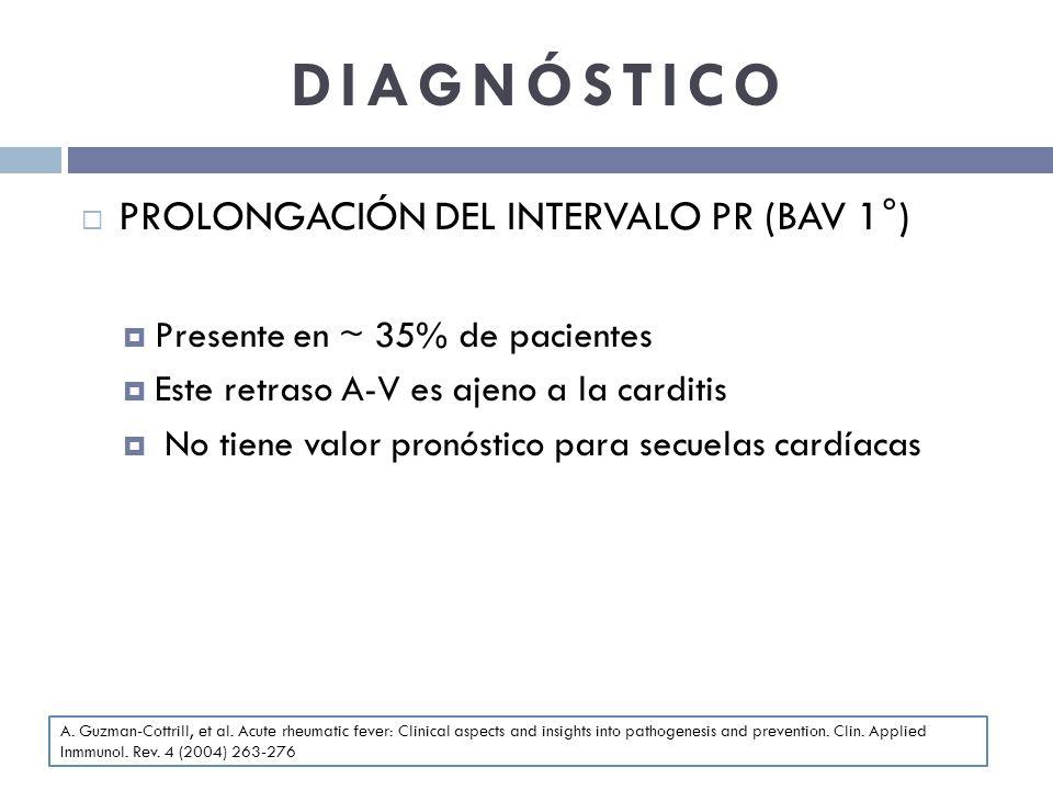 DIAGNÓSTICO PROLONGACIÓN DEL INTERVALO PR (BAV 1°)
