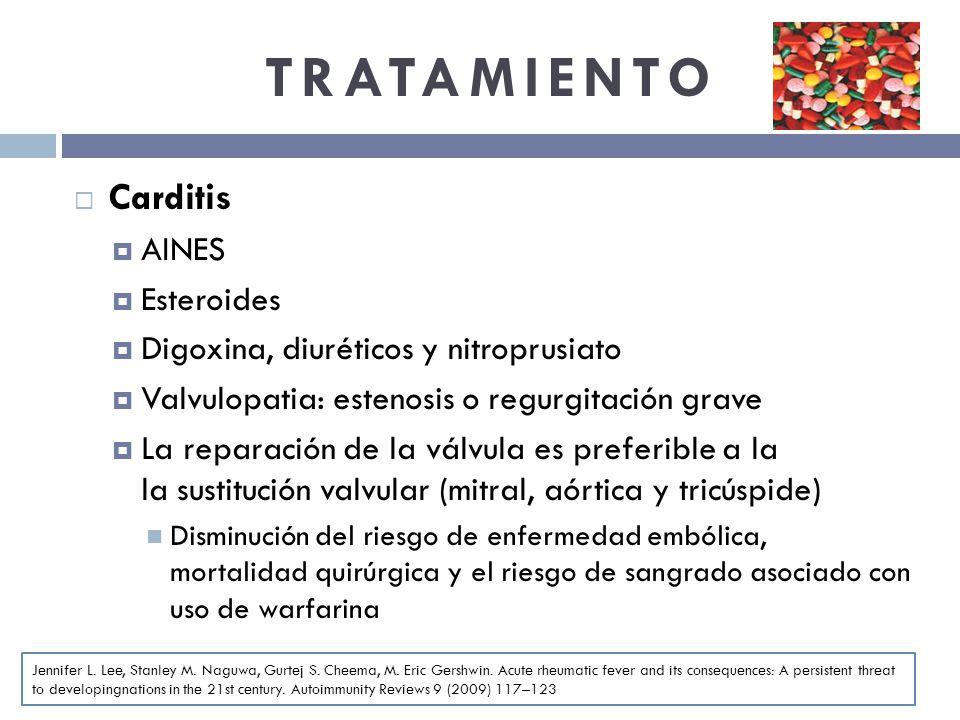 TRATAMIENTO Carditis AINES Esteroides