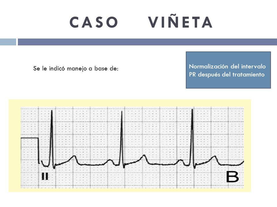 CASO VIÑETA Normalización del intervalo PR después del tratamiento