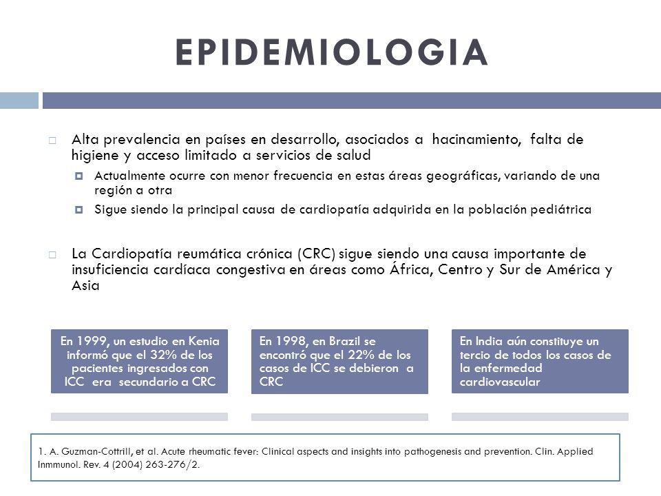 EPIDEMIOLOGIA Alta prevalencia en países en desarrollo, asociados a hacinamiento, falta de higiene y acceso limitado a servicios de salud.