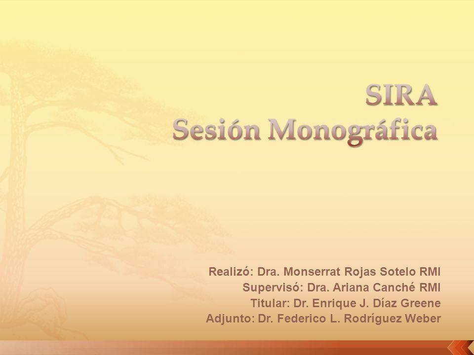 SIRA Sesión Monográfica