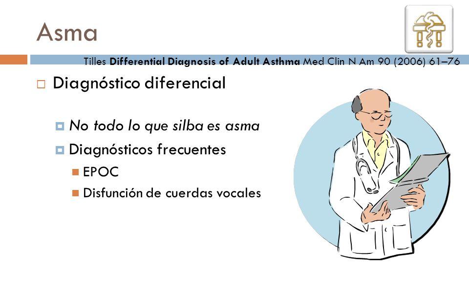 Asma Diagnóstico diferencial No todo lo que silba es asma