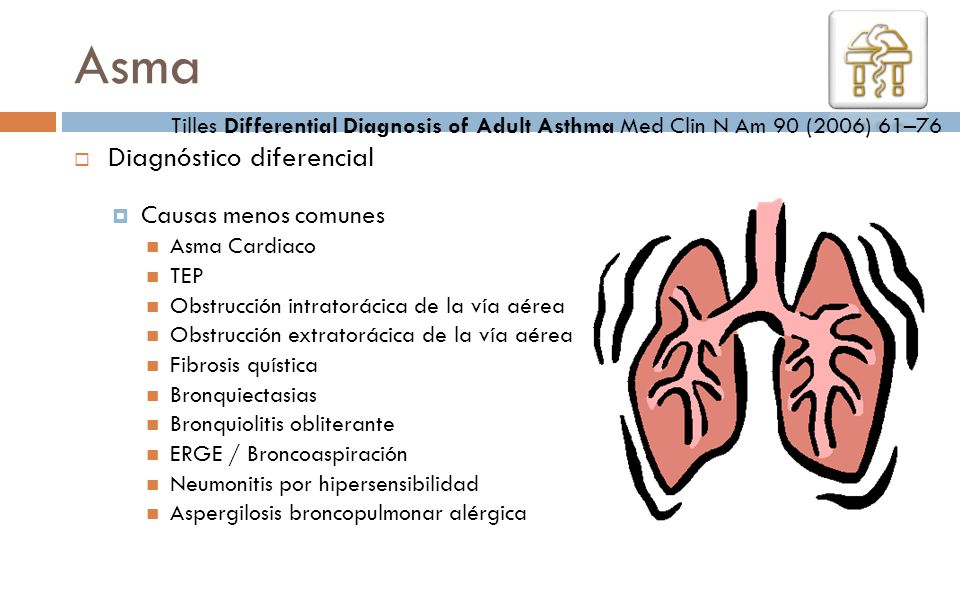 Asma Diagnóstico diferencial Causas menos comunes