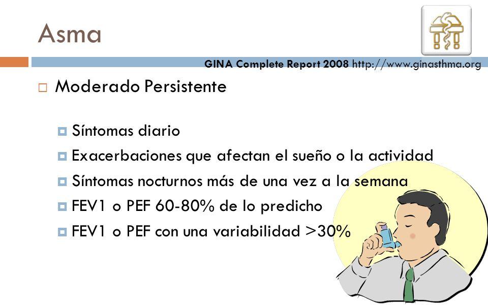 Asma Moderado Persistente Síntomas diario