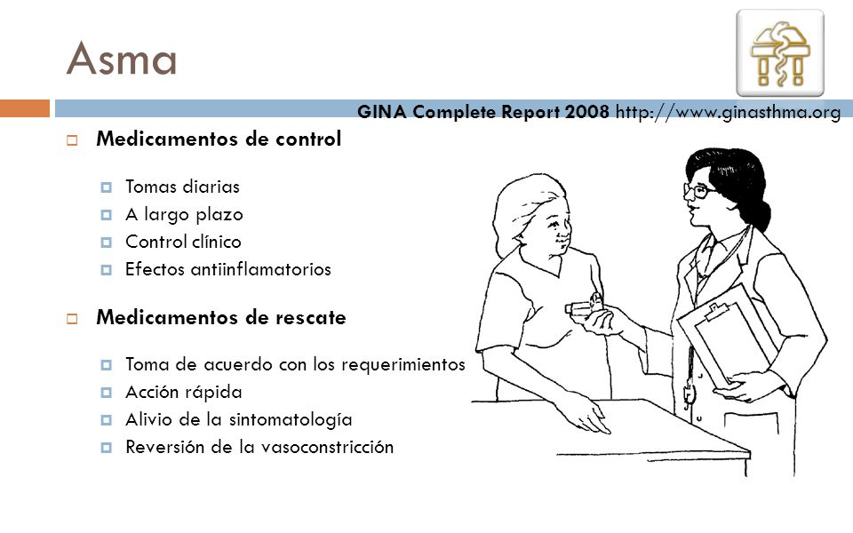 Asma Medicamentos de control Medicamentos de rescate
