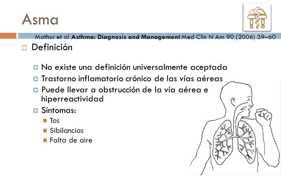 Asma Definición No existe una definición universalmente aceptada