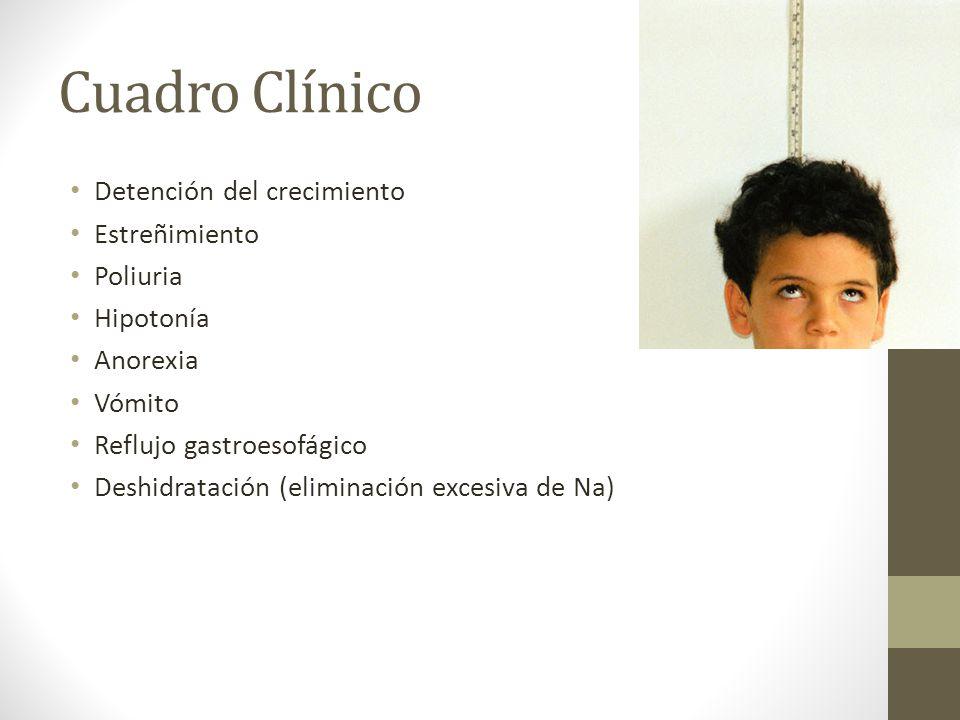 Cuadro Clínico Detención del crecimiento Estreñimiento Poliuria