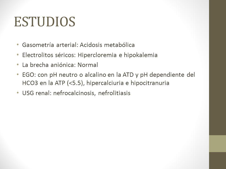 ESTUDIOS Gasometría arterial: Acidosis metabólica