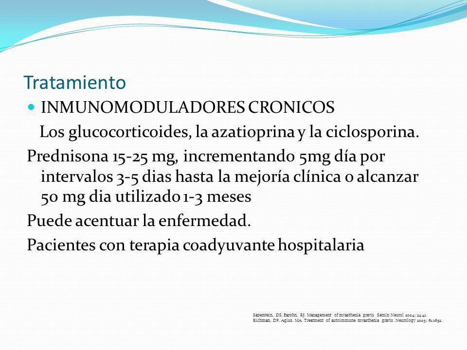 Tratamiento INMUNOMODULADORES CRONICOS