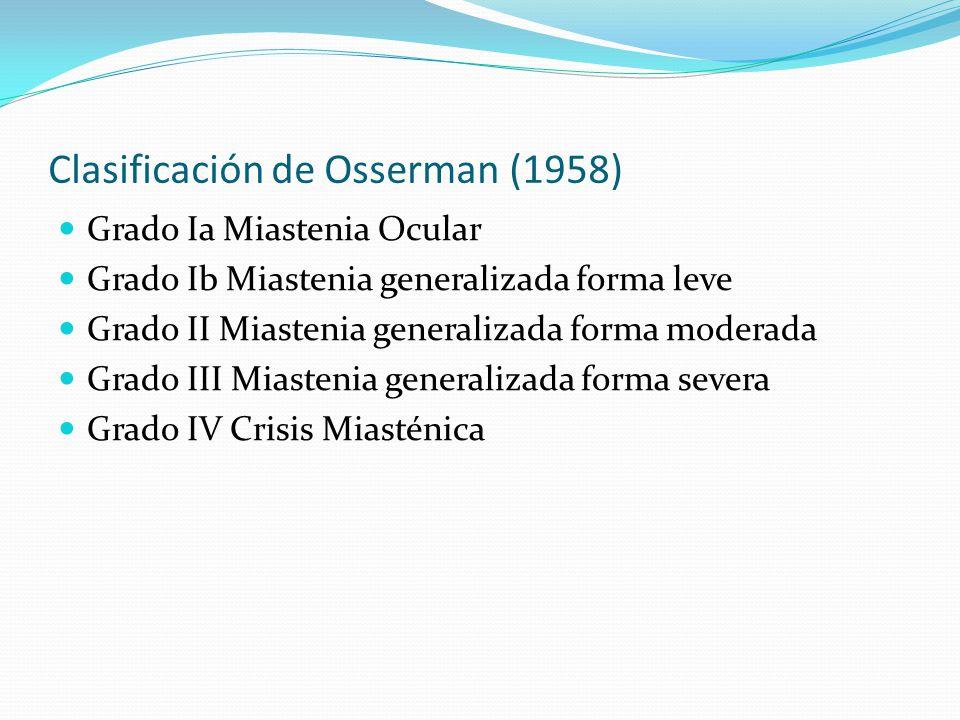 Clasificación de Osserman (1958)