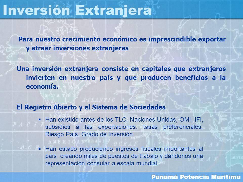 Inversión ExtranjeraPara nuestro crecimiento económico es imprescindible exportar y atraer inversiones extranjeras.