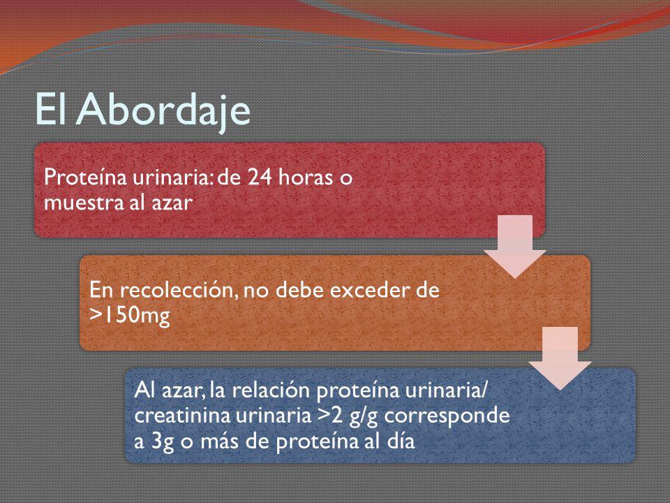 El Abordaje Proteína urinaria: de 24 horas o muestra al azar