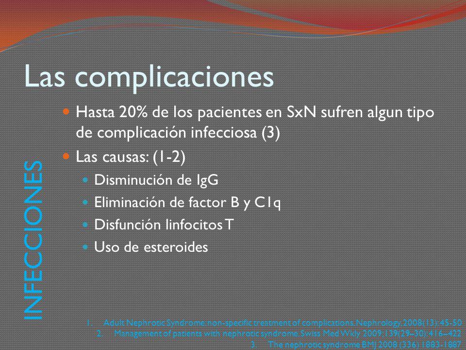 Las complicaciones INFECCIONES
