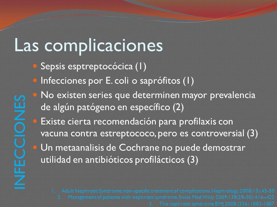 Las complicaciones INFECCIONES Sepsis esptreptocócica (1)