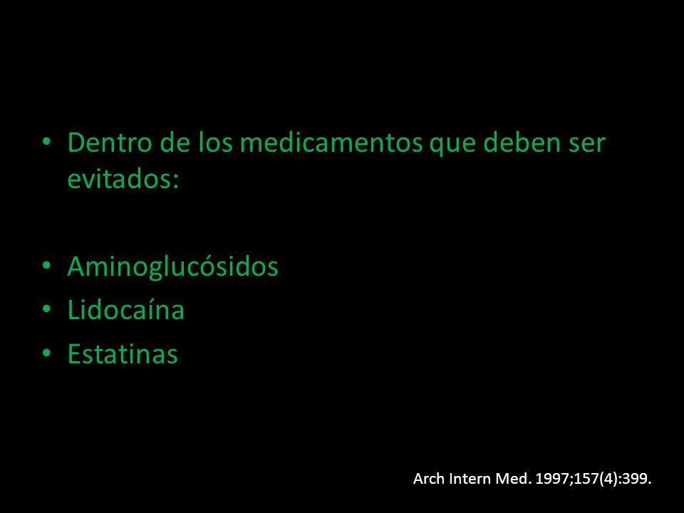 Dentro de los medicamentos que deben ser evitados: