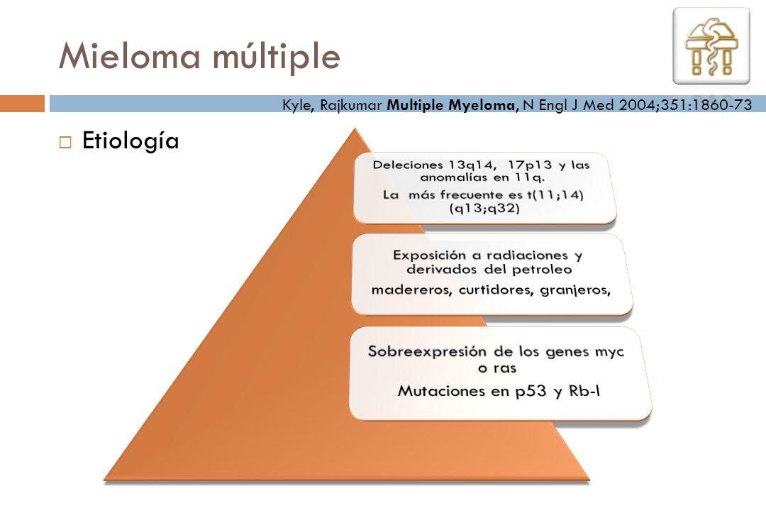 Mieloma múltiple Etiología