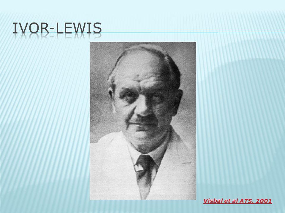 IVOR-LEWIS Visbal et al ATS, 2001