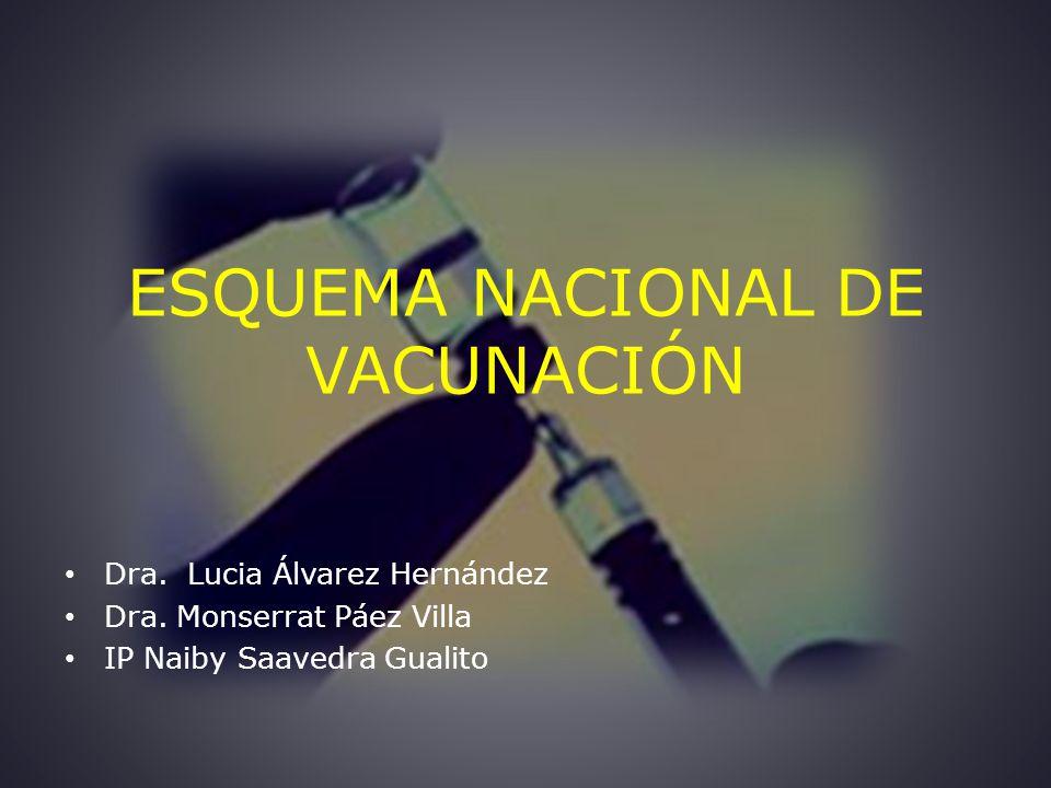 ESQUEMA NACIONAL DE VACUNACIÓN