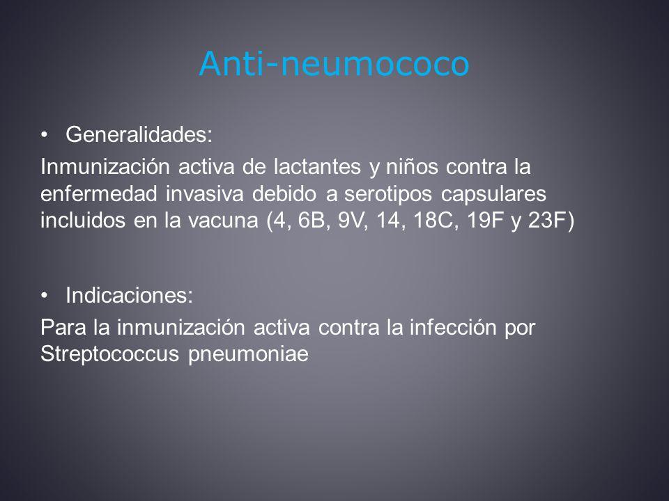 Anti-neumococo Generalidades: