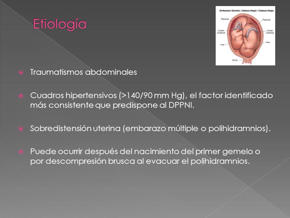 Etiología Traumatismos abdominales