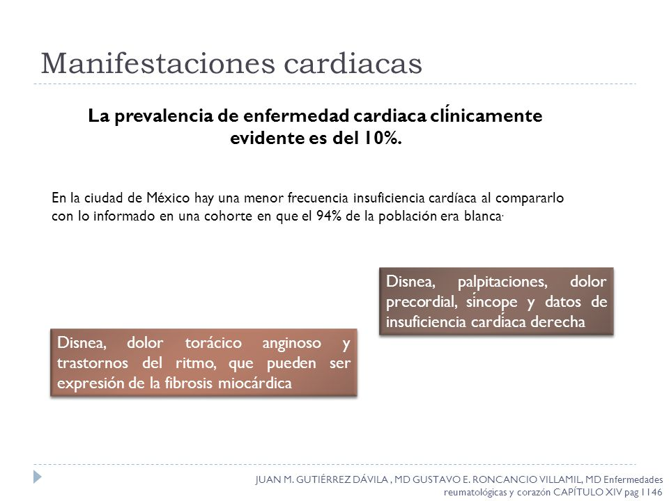 Manifestaciones cardiacas