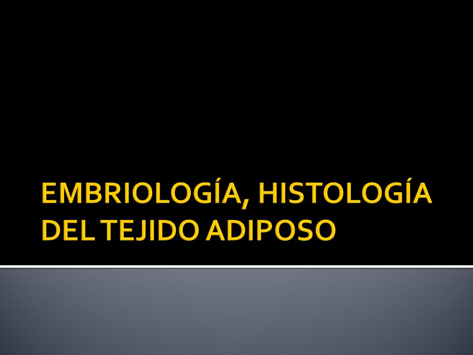 EMBRIOLOGÍA, HISTOLOGÍA DEL TEJIDO ADIPOSO