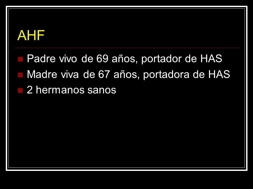 AHF Padre vivo de 69 años, portador de HAS