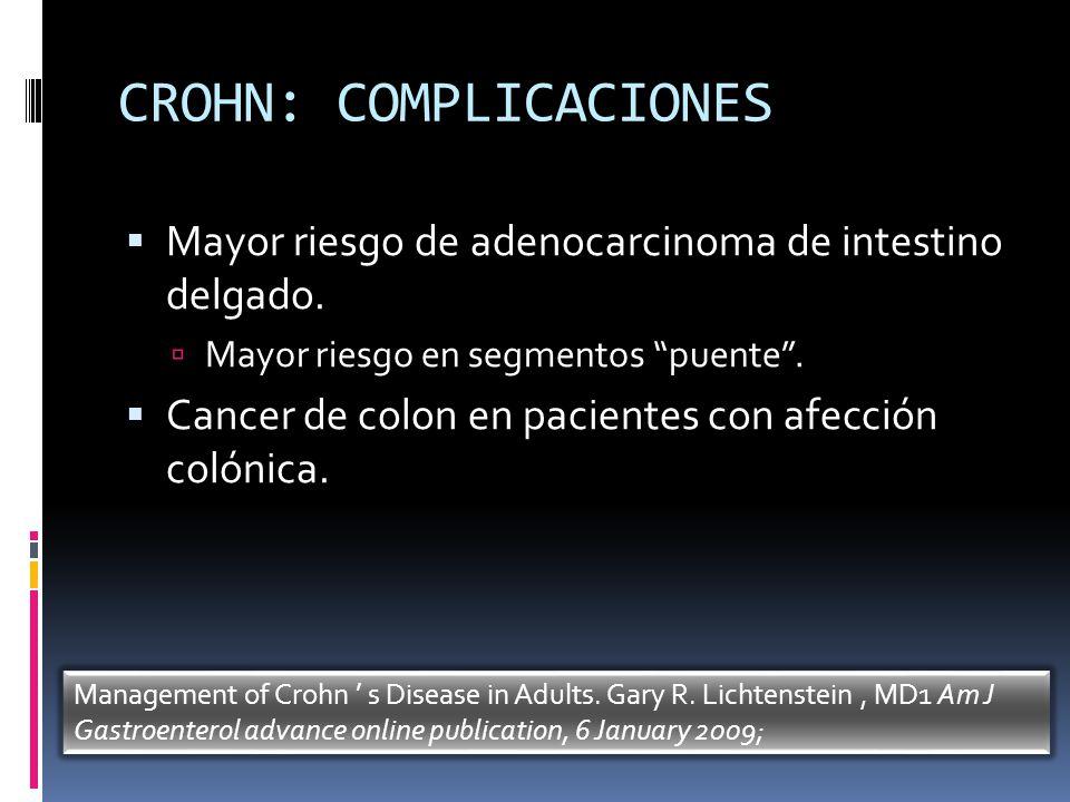 CROHN: COMPLICACIONES