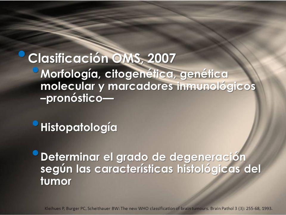 CLASIFICACIÓN Clasificación OMS, 2007