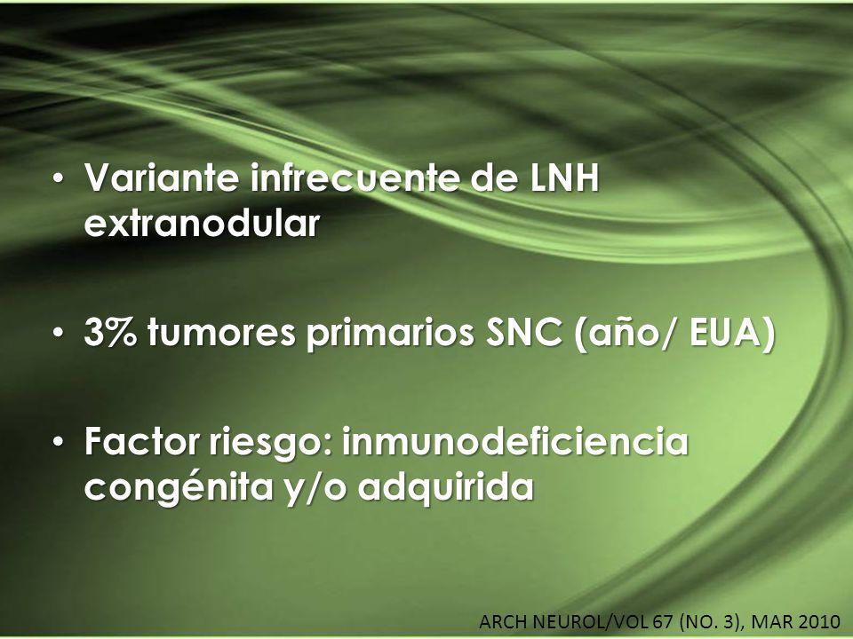 LINFOMA Variante infrecuente de LNH extranodular