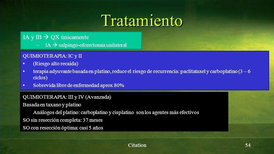 Tratamiento IA y IB  QX únicamente