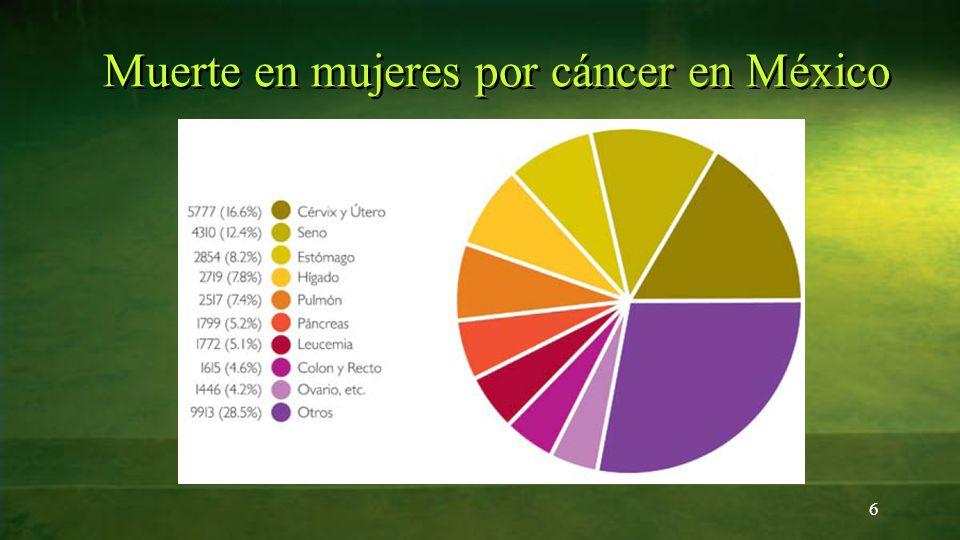 Muerte en mujeres por cáncer en México