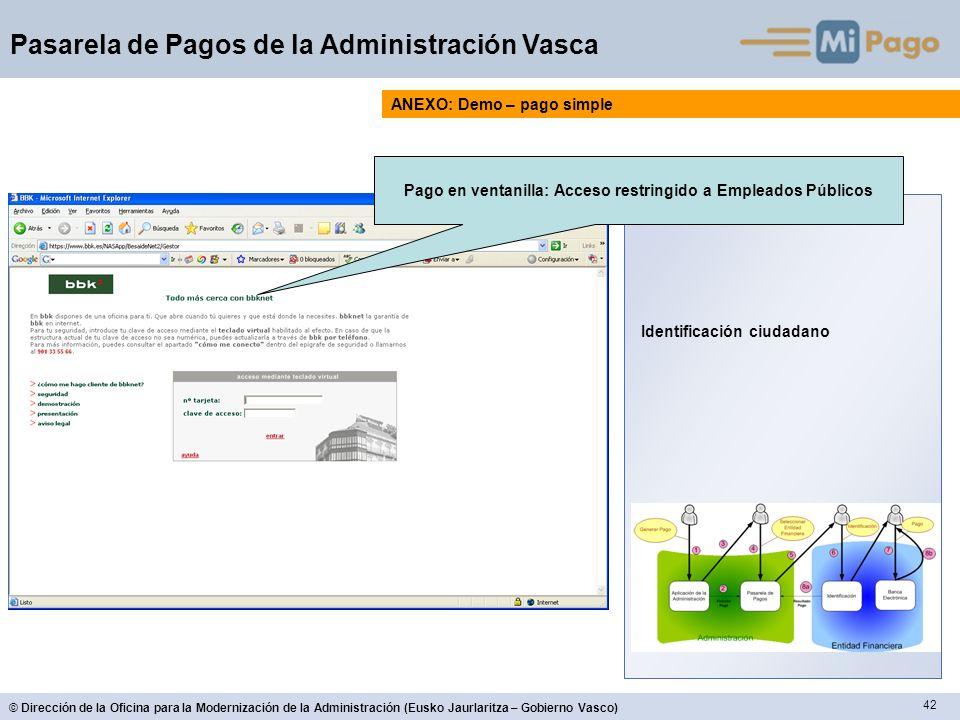 Pago en ventanilla: Acceso restringido a Empleados Públicos