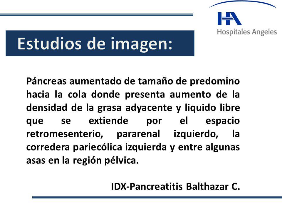 Estudios de imagen: .