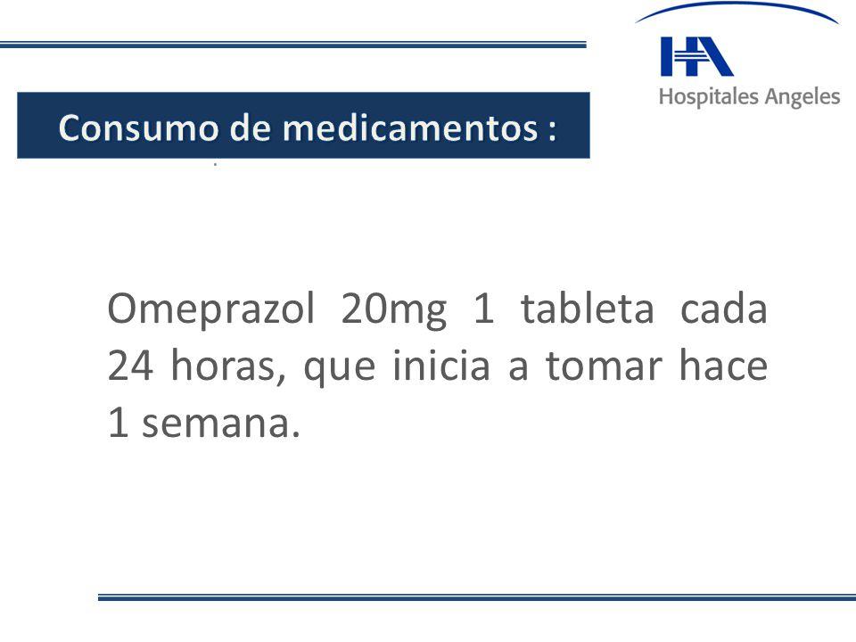 Consumo de medicamentos :