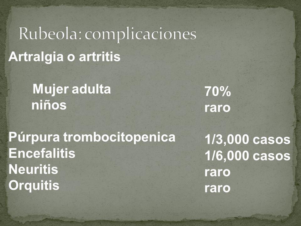 Rubeola: complicaciones