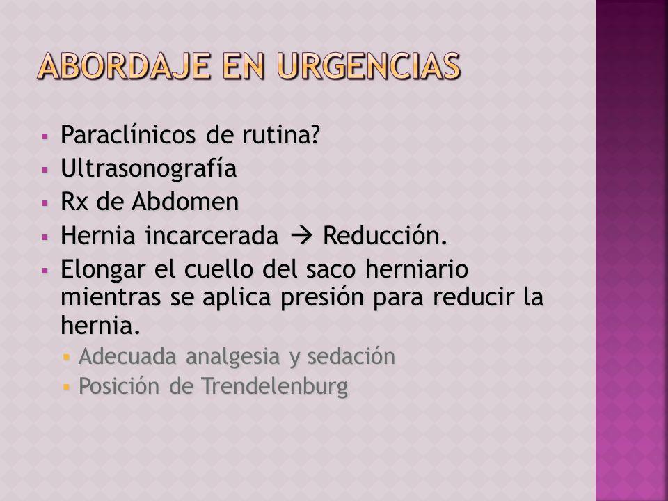 ABORDAJE EN URGENCIAS Paraclínicos de rutina Ultrasonografía