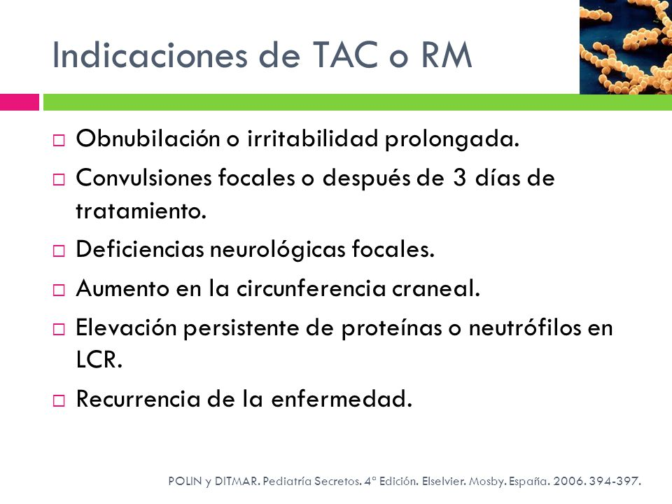 Indicaciones de TAC o RM