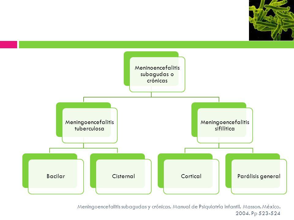 Meninoencefalitis subagudas o crónicas