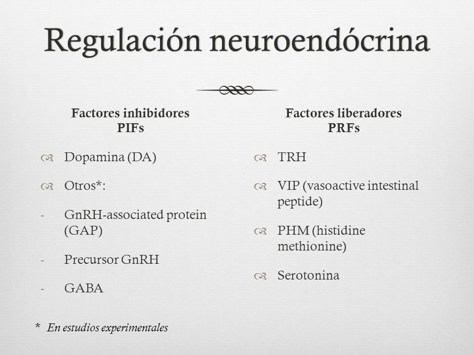 Regulación neuroendócrina