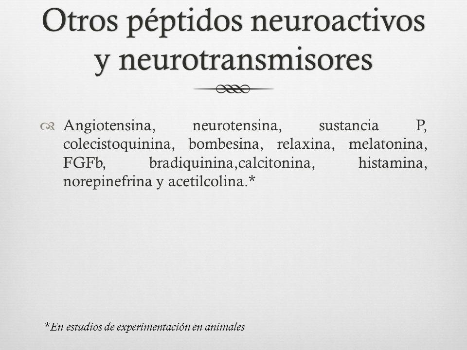 Otros péptidos neuroactivos y neurotransmisores