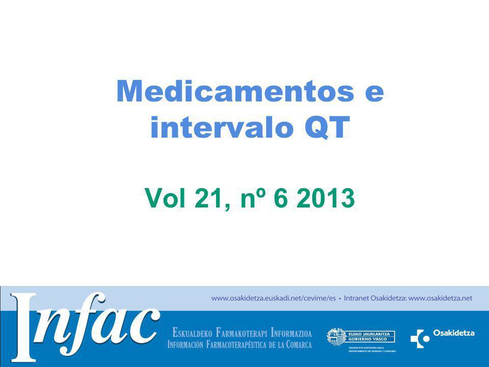 Medicamentos e intervalo QT Vol 21, nº 6 2013