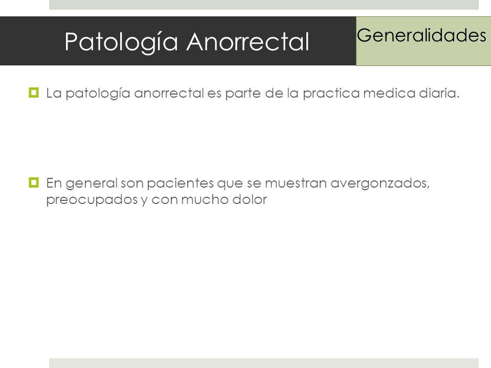 Patología Anorrectal Generalidades