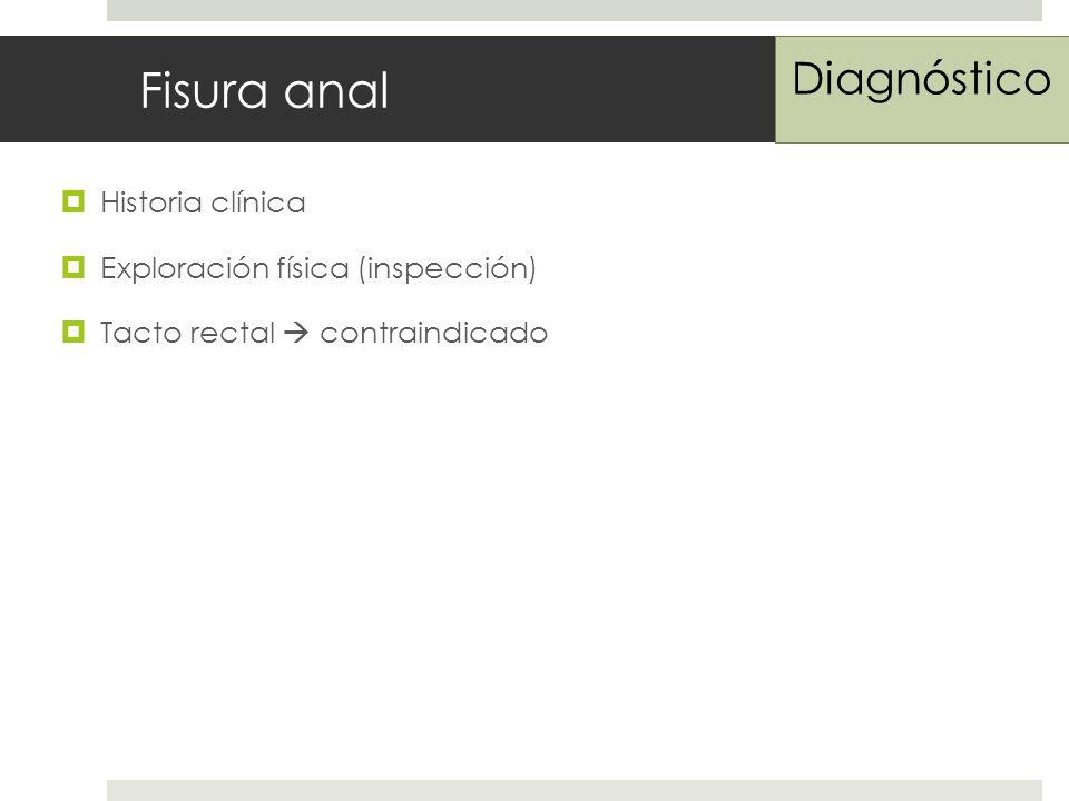 Fisura anal Diagnóstico Historia clínica