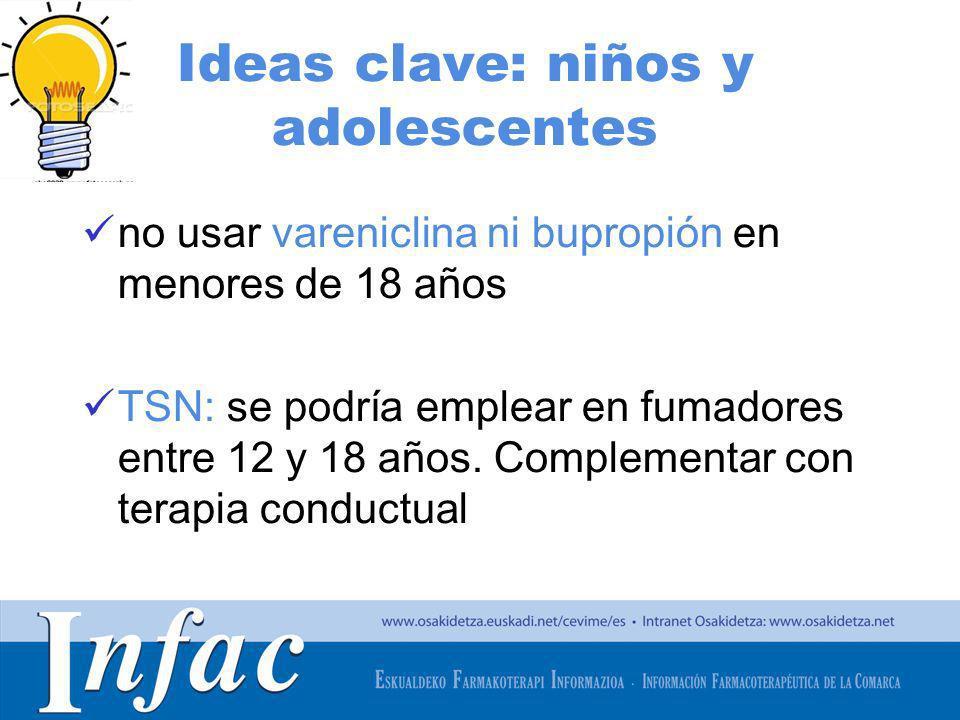 Ideas clave: niños y adolescentes