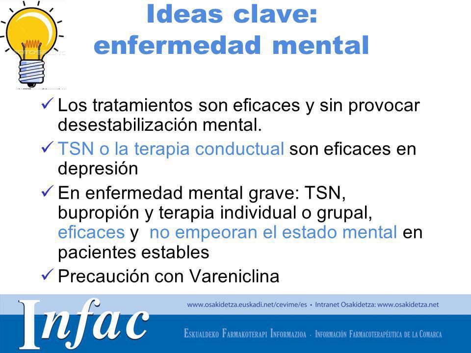 Ideas clave: enfermedad mental