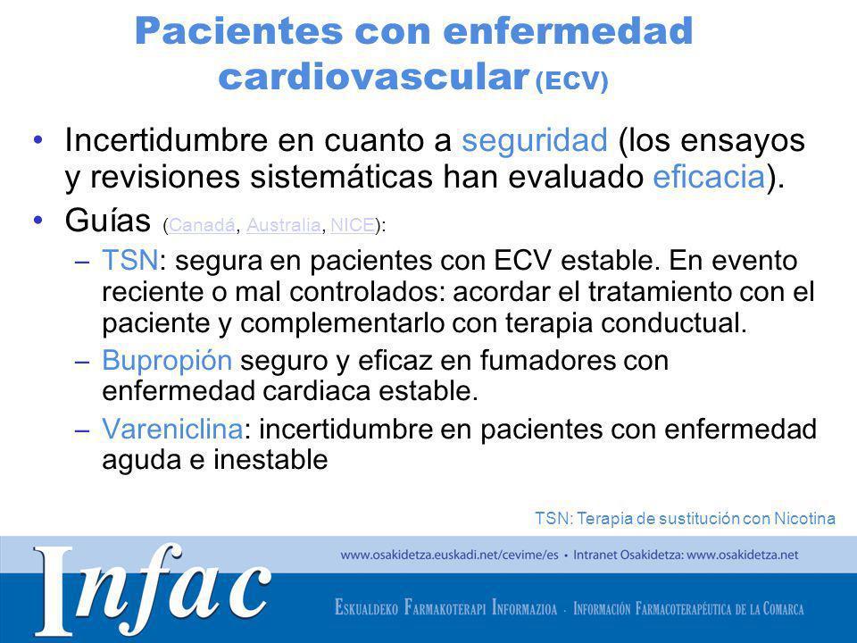 Pacientes con enfermedad cardiovascular (ECV)