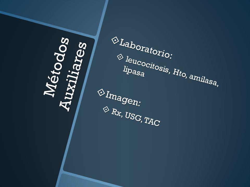 Métodos Auxiliares Laboratorio: Imagen: