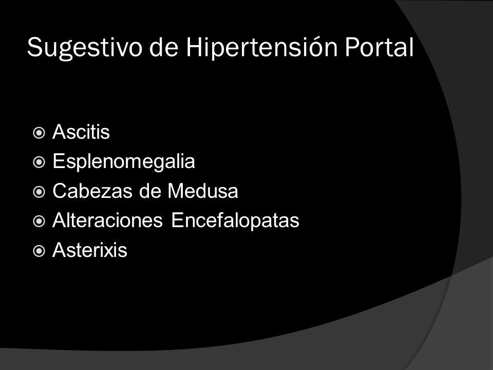 Sugestivo de Hipertensión Portal